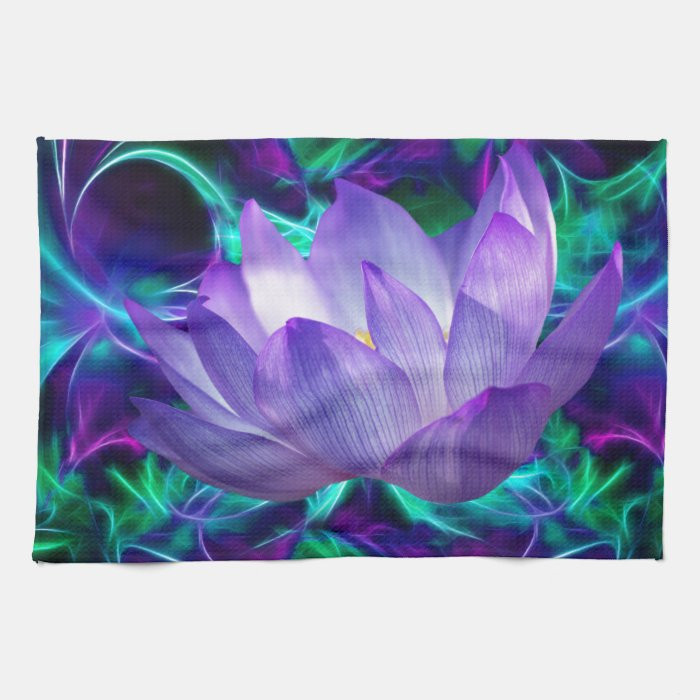 Purple lotus flower and its meaning hand towel