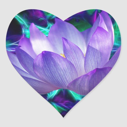 Purple lotus flower and its meaning heart sticker