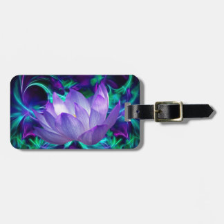 Purple lotus flower and its meaning bag tag