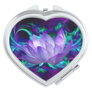 Purple lotus flower and its meaning mirror for makeup