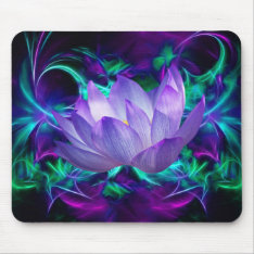 Purple Lotus Flower And Its Meaning Mouse Pad at Zazzle