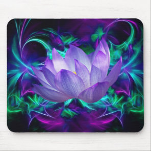 Purple lotus flower and its meaning mouse pad