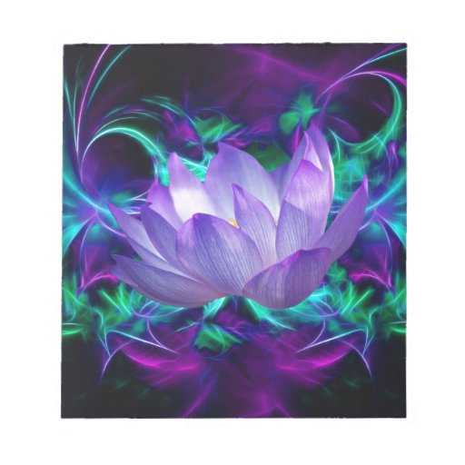 Purple lotus flower and its meaning notepad