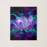 Purple lotus flower and its meaning puzzle
