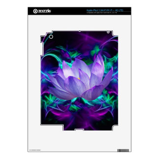 Purple lotus flower and its meaning skins for iPad 3