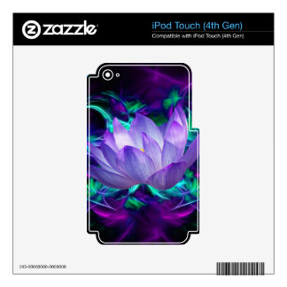 Purple lotus flower and its meaning skins for iPod touch 4G