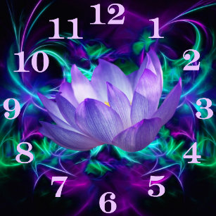 Purple lotus flower gifts on zazzle purple lotus flower and its meaning square wall clock mightylinksfo