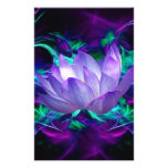 Purple lotus flower and its meaning stationery