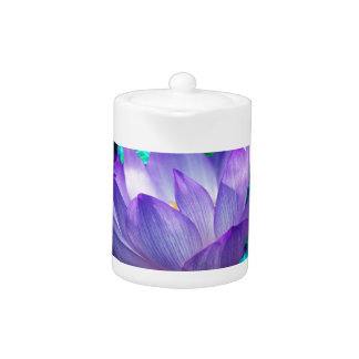 Purple lotus flower and its meaning teapot