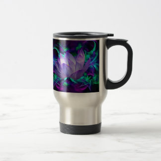 Purple lotus flower and its meaning travel mug