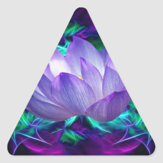 Purple lotus flower and its meaning triangle sticker