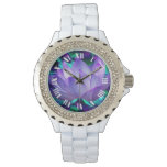 Purple lotus flower and its meaning wristwatch