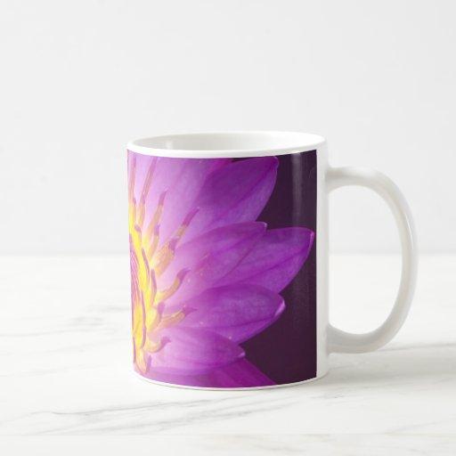 Purple Lotus Flower Classic White Coffee Mug