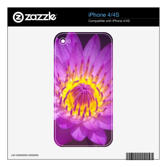 Purple Lotus Flower Decals For iPhone 4
