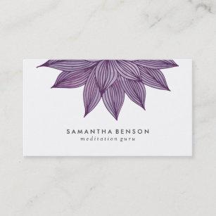 Lotus watercolor business cards templates zazzle purple lotus flower floral watercolor business card colourmoves