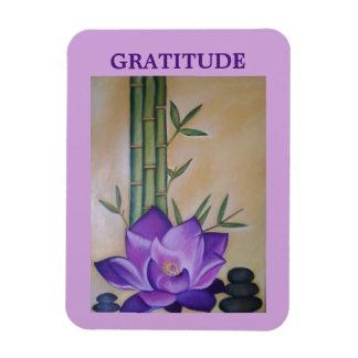 Purple Lotus Flower Inspirational Magnet