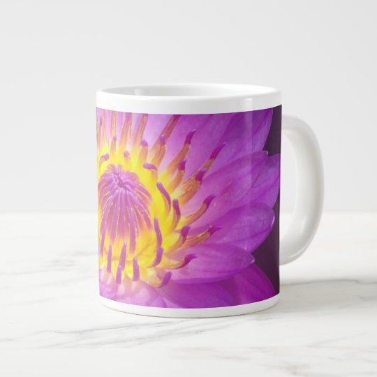 Purple Lotus Flower Large Coffee Mug