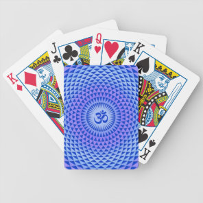 Purple Lotus flower meditation wheel OM Bicycle Playing Cards