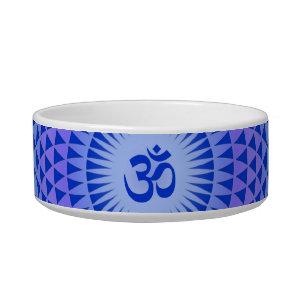 Purple Lotus flower meditation wheel OM Bowl