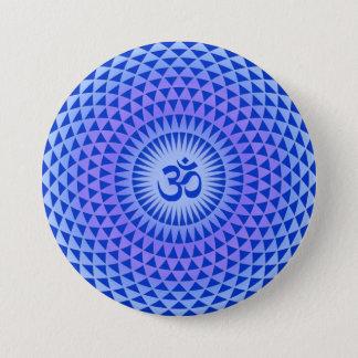 Purple Lotus flower meditation wheel OM Button