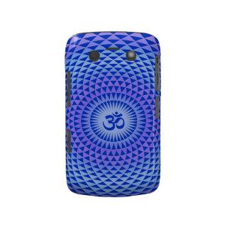 Purple Lotus flower meditation wheel OM Case-mate Blackberry Case