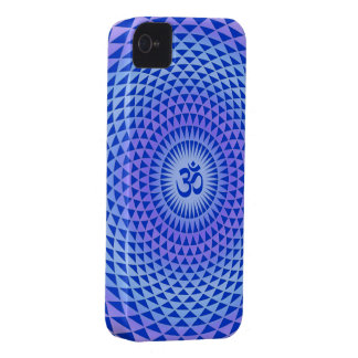 Purple Lotus flower meditation wheel OM iPhone 4 Cover