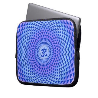 Purple Lotus flower meditation wheel OM Computer Sleeves