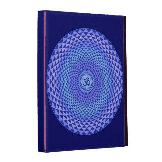 Purple Lotus flower meditation wheel OM iPad Folio Cases