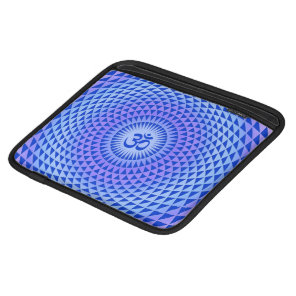 Purple Lotus flower meditation wheel OM iPad Sleeve
