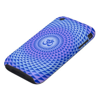 Purple Lotus flower meditation wheel OM iPhone 3 Tough Cover