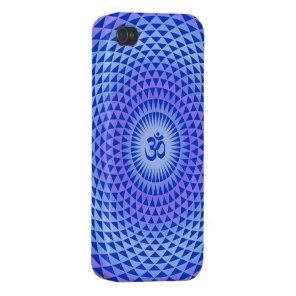 Purple Lotus flower meditation wheel OM iPhone 4/4S Cover