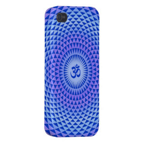 Purple Lotus flower meditation wheel OM iPhone 4 Cases
