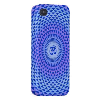 Purple Lotus flower meditation wheel OM iPhone 4 Cases