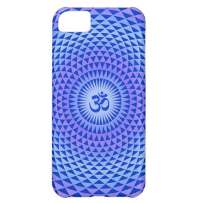 Purple Lotus flower meditation wheel OM iPhone 5C Case
