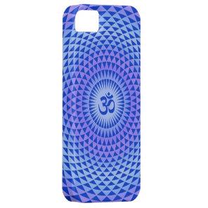 Purple Lotus flower meditation wheel OM iPhone SE/5/5s Case