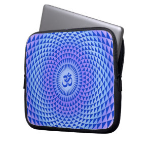 Purple Lotus flower meditation wheel OM Laptop Sleeve