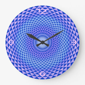 Purple Lotus flower meditation wheel OM Large Clock