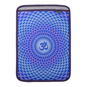 Purple Lotus flower meditation wheel OM MacBook Air Sleeve