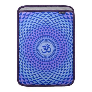 Purple Lotus flower meditation wheel OM MacBook Air Sleeve