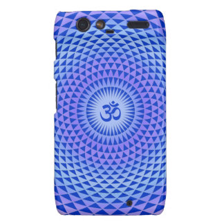 Purple Lotus flower meditation wheel OM Motorola Droid RAZR Cover