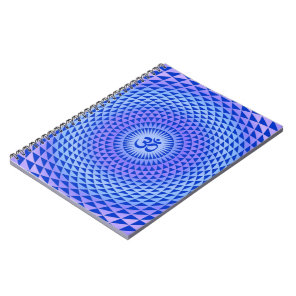Purple Lotus flower meditation wheel OM Notebook