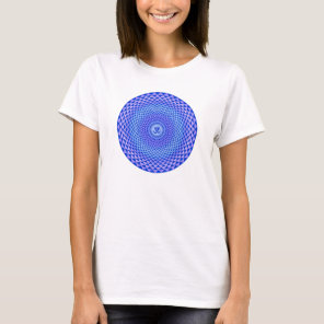 Purple Lotus flower meditation wheel OM T-Shirt