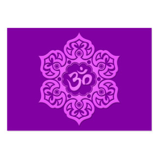 Purple Lotus Flower Om Large Business Cards (Pack Of 100)