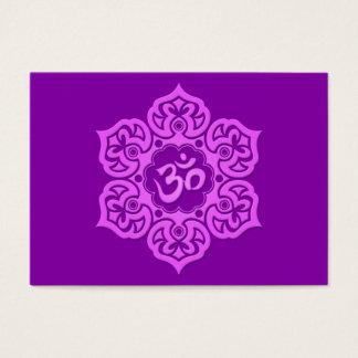 Purple Lotus Flower Om Business Card