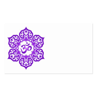 Purple Lotus Flower Om Double-Sided Standard Business Cards (Pack Of 100)