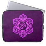Purple Lotus Flower Om Laptop Computer Sleeve