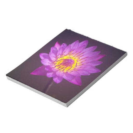 Purple Lotus Flower Scratch Pads