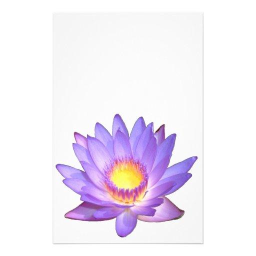 Purple Lotus Flower Stationery Zazzle