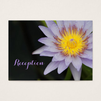 Purple Lotus Flower Wedding Reception Cards
