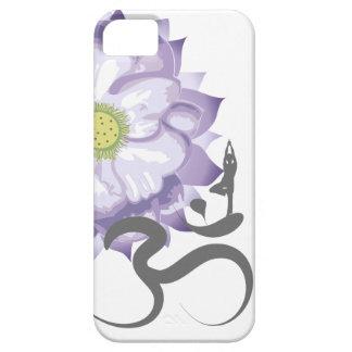 Purple Lotus Flower Yoga Indian Ohm Om Symbol iPhone 5 Case